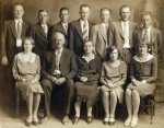 William W. Miles Family  Back Row:  Kelly, Clarence, Luther, Tolley, Thomas, Clement, Raymond  Front Row: Anna Lou, Will